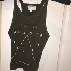 KENDALL + KYLIE olive green tank